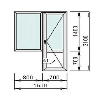 Окна и двери серии krauss 58 - балконный блок krauss 70.